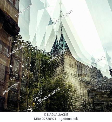 Quedlinburg in August, multiple exposure
