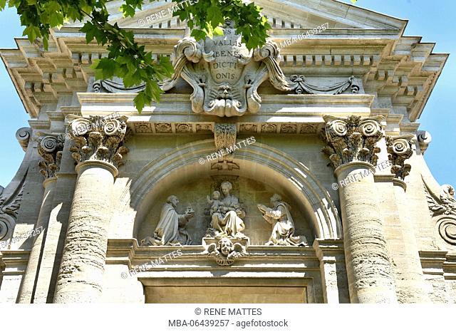 France, Gard, Villeneuve les Avignon, the Val de Benediction chartreuse, the gate