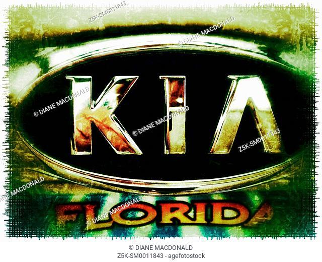 KIA logo and a Florida licence plate