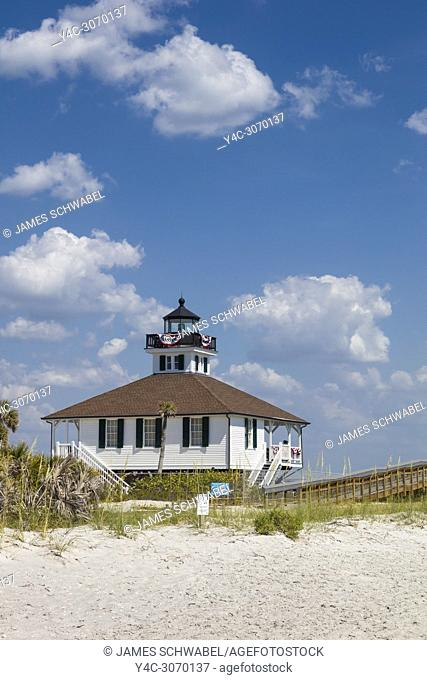 Port Boca Grande Lighthouse built in 1890 in Gasparilla Island State Park on Gasparilla Island one of the Gulf Coast barrier islands