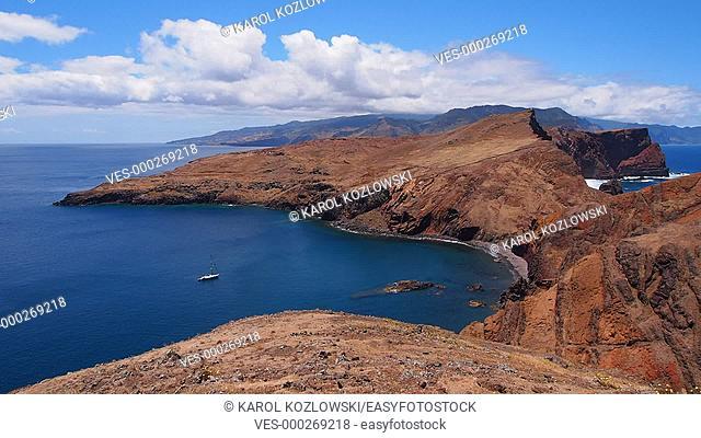 Landscape of Ponta de Sao Lourenco on Madeira Island, Portugal