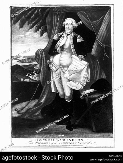 George Washington. Date: 1797; Geography: Made in England; Medium: Oil on glass; Dimensions: Dimensions unavailable; Classification: Paintings; Credit Line:...