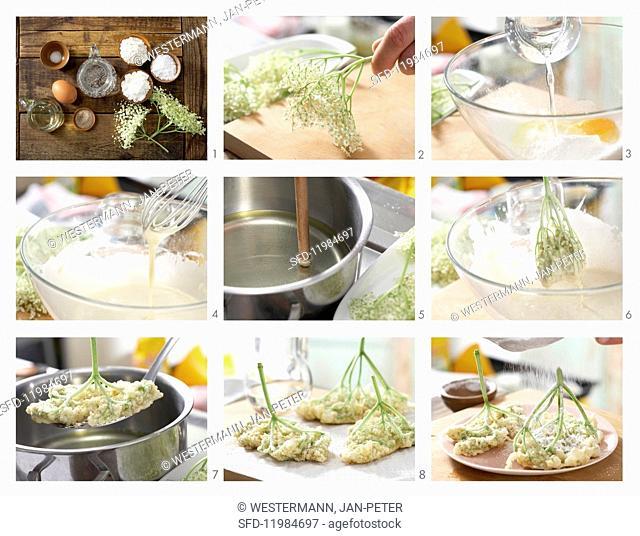 How to prepare elderflower fritters