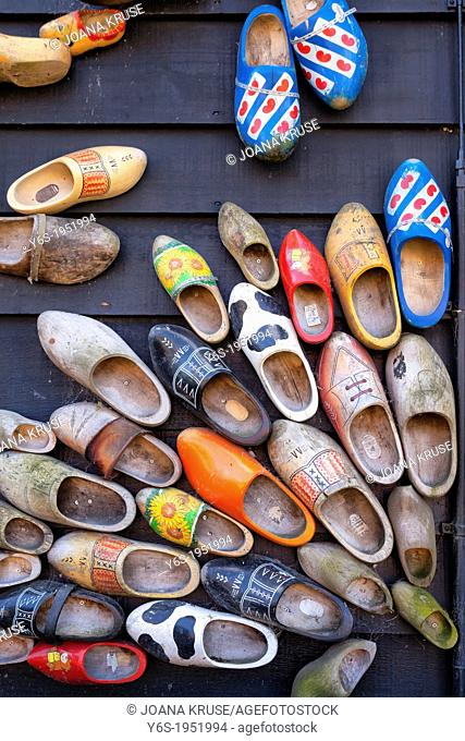 old dutch wooden shoes