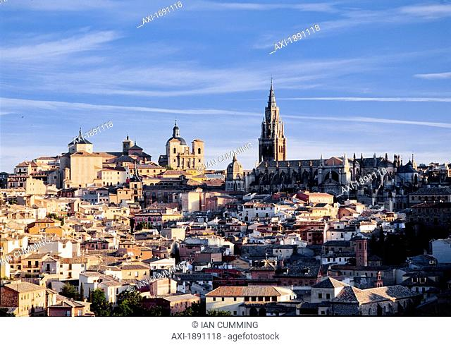 Cityscape With Cathedral, Toledo, Spain