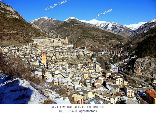 The village of Tende Vallee de la Roya Alpes-MAritimes 06 PACA FRance Europe