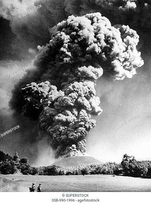 Smoke emerging from a volcano, Paricutin, Michoacan, Mexico