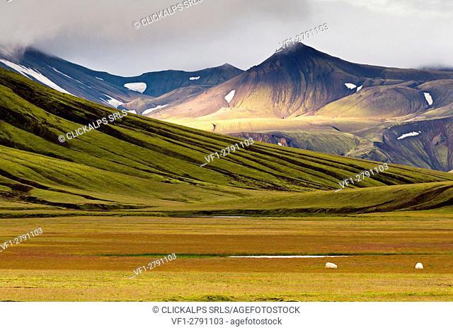 volcanic hills in landmannahellir area, iceland