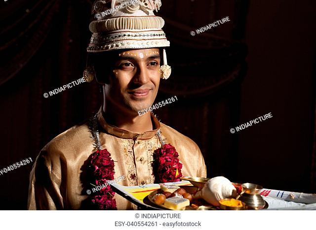Portrait of Bengali groom