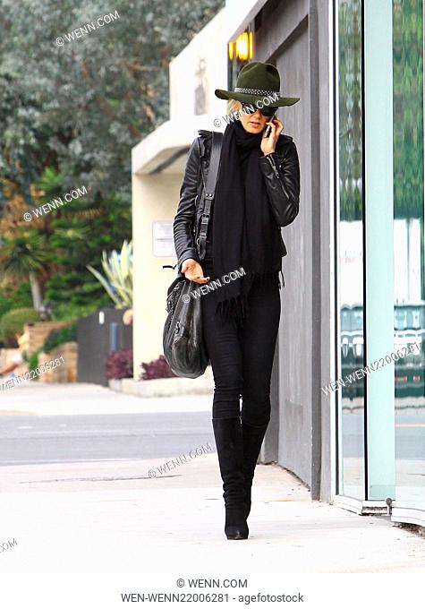 Kimberly Stewart out and about talking on her cellphone in West Hollywood Where: Los Angeles, United Kingdom When: 10 Dec 2014 Credit: WENN.com