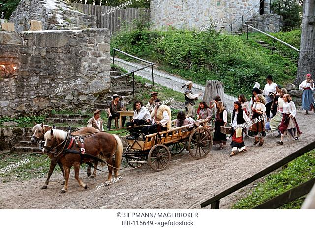 Historical open-air festival Der Guttensteiner at Schwarzenburg castle near Rötz , Upper Palatinate Bavaria Germany