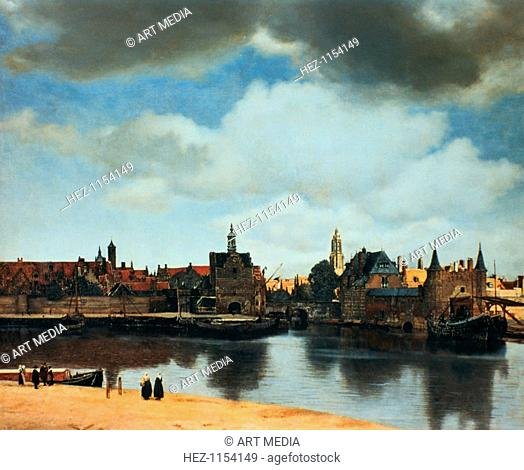 'View of Delft, Netherlands, after the fire', c1658