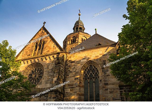 Historic St. Bonifatius Church in Hamelin, Lower Saxony, Germany, Europe