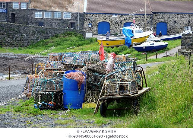 Commercial lobster fishing boat Stock Photos and Images