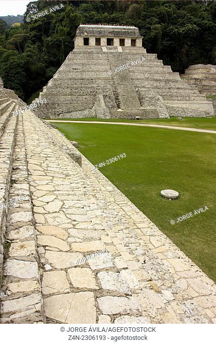 Palenque piramyd, Maya, Mexico