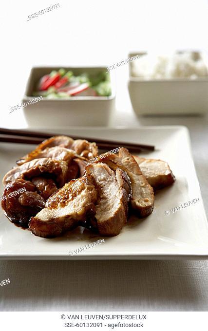 Triyaki-style chicken