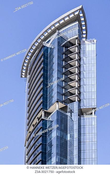 Park Lane Tower; brand new modern architecture in Business Bay, a business capital as well as a freehold city in Dubai, United Arab Emirates