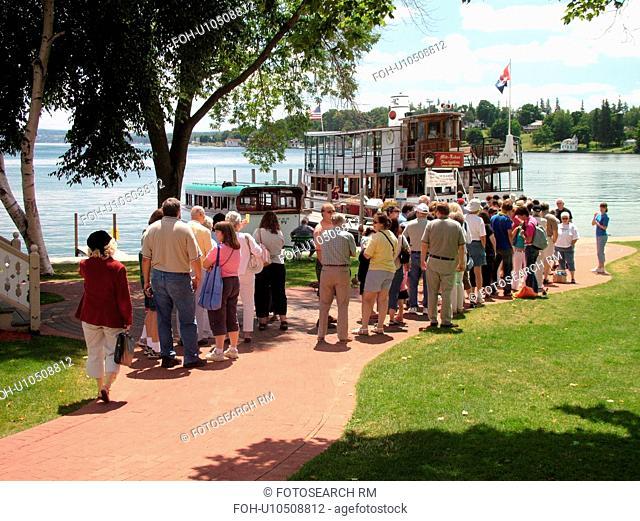 Skaneateles, NY, New York, Finger Lakes Region, Skaneateles Lake, Mid Lakes Navigation Company, excursion, tour boat, The Judge Ben Wiles sightseeing dinner...
