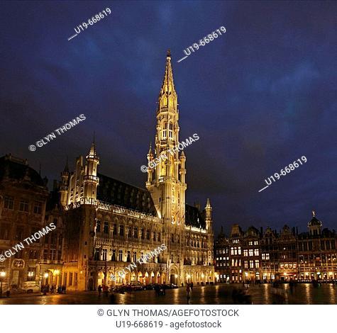 Town Hall, Groote Markt, Brussels, Belgium, Europe
