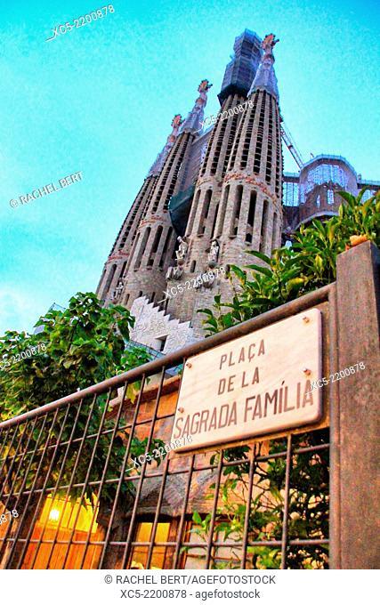 Sagrada Familia by architect Antoni Gaudi in Barcelona, Catalonia