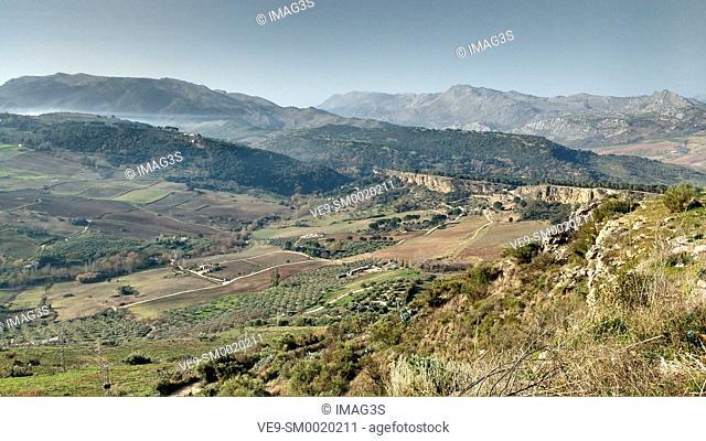 Landscape from Ronda city, Malaga province, Spain