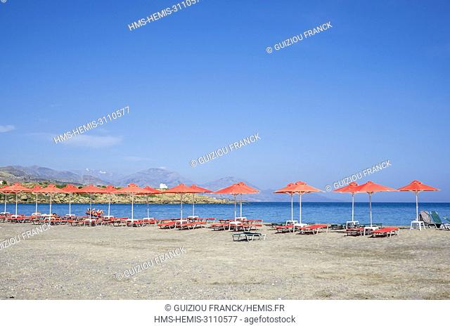 Geece, Crete, Hania district, Frangokastello, the beach