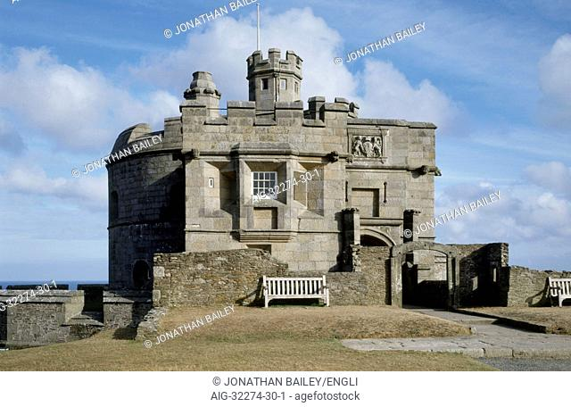 Pendennis Castle. General view of the keep and northern entrance block
