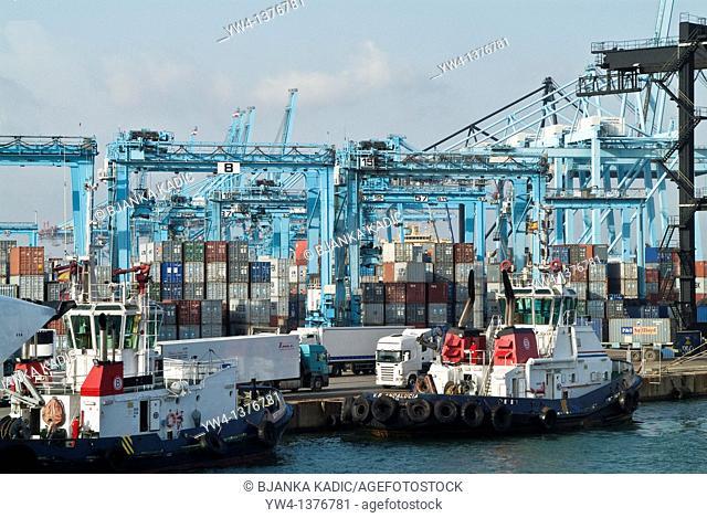 Algeciras industrial port, Spain