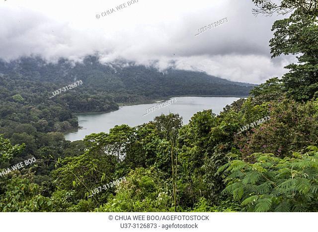 Stormy weather in Lake Tamblingan & Lake Buyan, Bedugul, Ubud, Indonesia