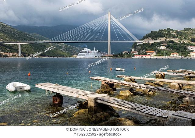 The Franjo Tudman suspension bridge, Dubrovnik, Croatia, Europe