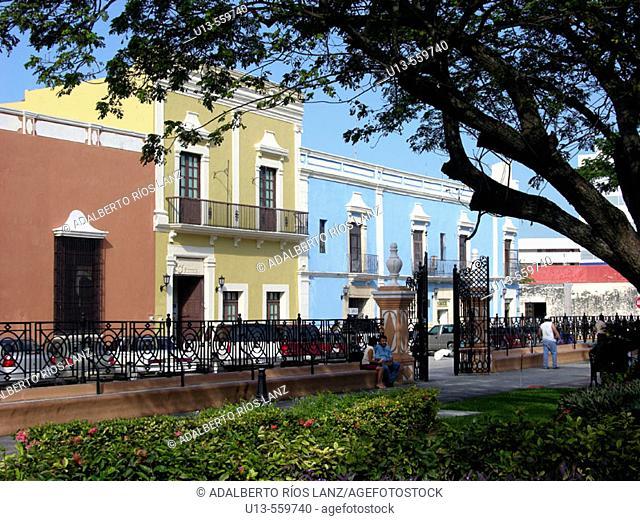 Plaza de la Independencia. Campeche old town. World Heritage. Mexico