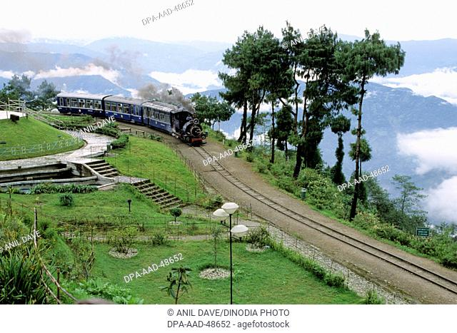 toy train at batashia loop ; darjeeling ; west bengal ; india