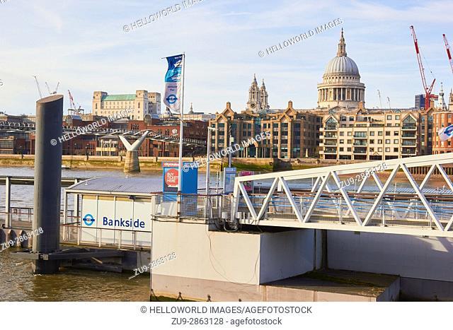 Bankside Pier, London, England