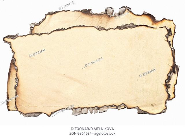 bundle of an old papers isolated on white