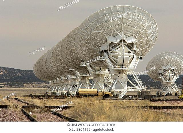 Datil, New Mexico - The Very Large Array radio telescope consists of 27 large dish antennas on the Plains of San Agustin in western New Mexico
