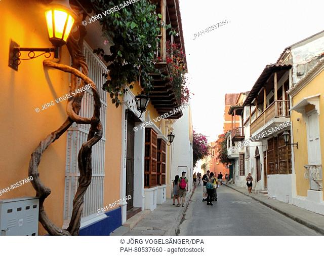 The historic center of the colonial city Cartagena de Indias, Colombia, 29 February 2016. Cartagena was designated a UNESCO World Heritage Site in 1984