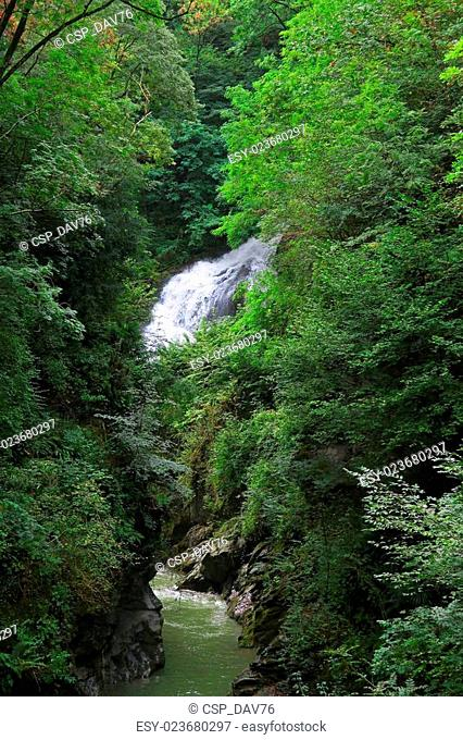 Waterfall of Pioverna river
