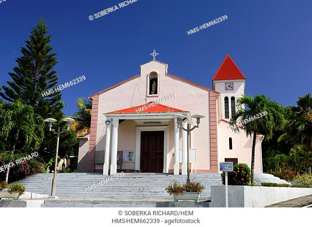 France, Guadeloupe French West Indies, Basse Terre, Deshaies, Church of Deshaies