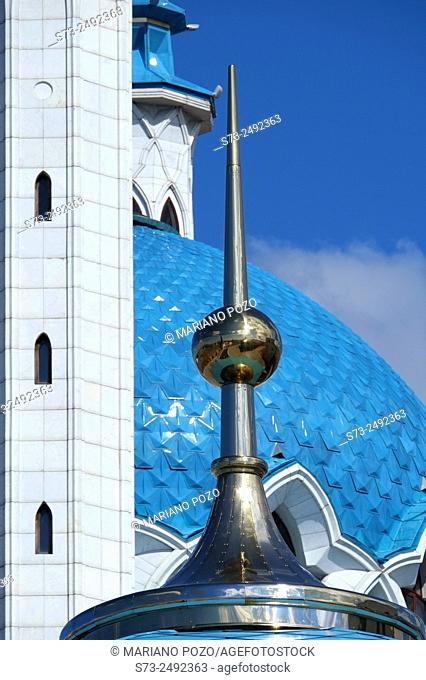 Kul Sharif mosque detail in Kazan Kremlin, Russia