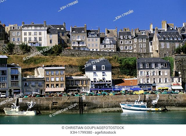 port of Granville, Mont-Saint-Michel bay, Manche department, Normandy region, France, Europe