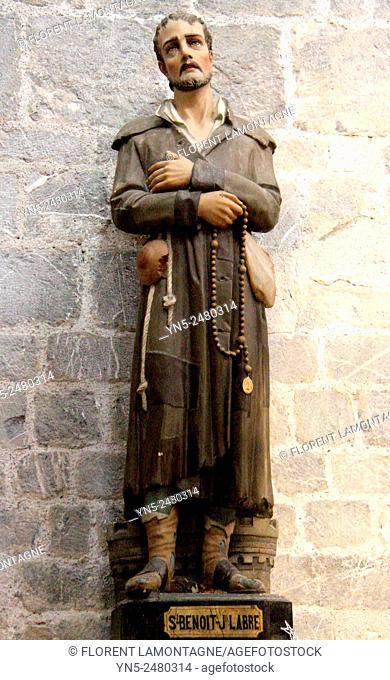 Statue of Saint Benoit Labre, Saint Bertrand de Comminges, Midi-Pyrénées, Haute Garonne