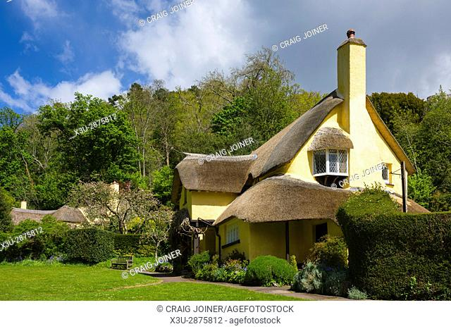 The National Trust village of Selworthy in Exmoor National Park, Somerset, England