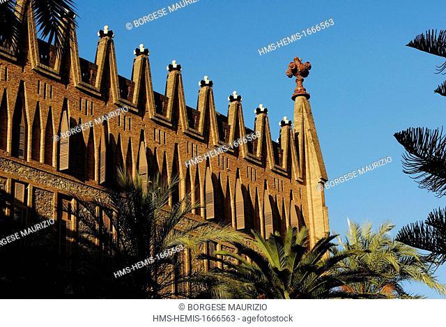 Spain, Catalonia, Barcelona, Saint Teresa school built between 1887 and 1889 by architect Antoni Gaudi, carrer de Ganduxer 85