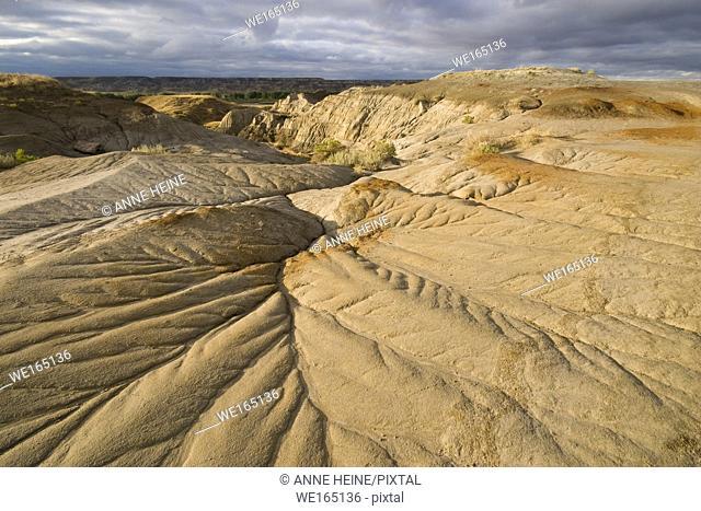 Badlands in Dinosaur Provincial Park, Alberta, Canada