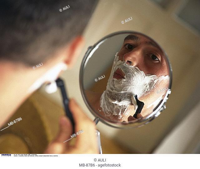 Man, Shave, Mirror