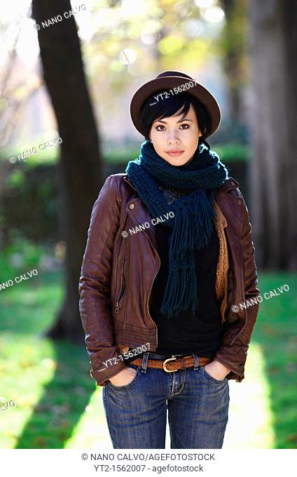 Attractive french eurasian young woman