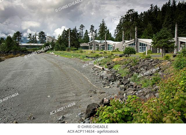 Skidegate, Haida Heritage Centre at ?ay Llnagaay, Haida Gwaii, formerly known as Queen Charlotte Islands, British Columbia, Canada