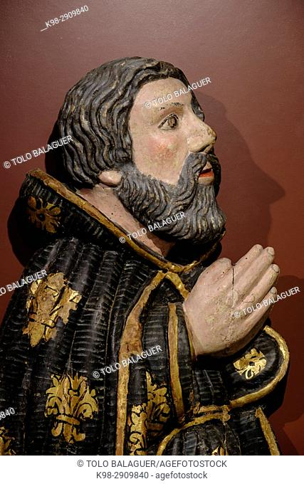 Ramon Llull, Polychrome relief, 17th Century, unknown author, Museo diocesano de mallorca, palma, Mallorca, Balearic Islands, Spain
