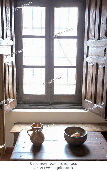 kitchen in Museum house of 16th century where Cervantes is believed to have written part of his masterpiece