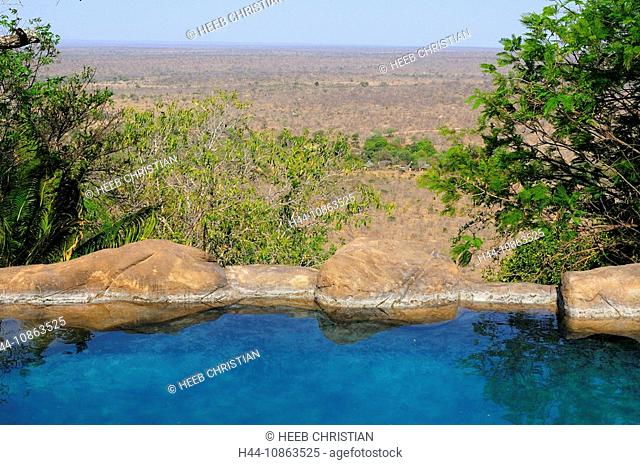 Pool, Rock Lodge, Ulusaba Sir Richard Branson's Private Game Reserve, Sabi Sands Game Reserve, Mpumalanga, South Africa, water, savanna, landscape, view